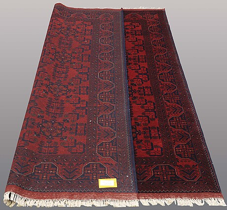 "A carpet, afghan, s.k, ""khan mohammadi"", ca 233 x 175 cm."