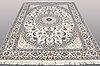 A carpet, nain part silk, s.k 9laa, ca  303 x 202 cm.