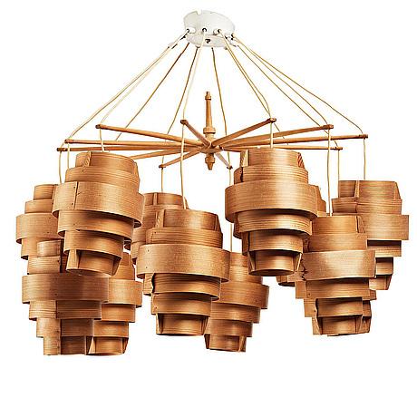 Hans-agne jakobsson, a 'festivus' chandelier, model 't478/a', for ab ellysett, markaryd, sweden 1960's.