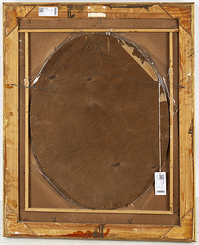 Louis michel van loo, after. oval. canvas relined on panel 80 x 64 cm.