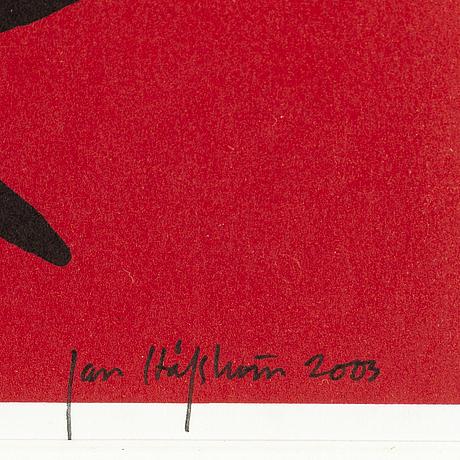 Jan hÅfstrÖm, litograph in color, signed, numbered 23/2000, dated 2003.