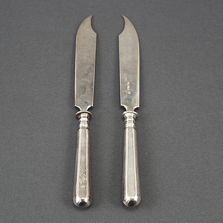 A set of 12 silver knives, gerusim mitrofanov, moscow, 1908-1917.