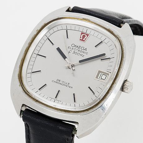 Omega, electronic de ville, wristwatch, 37.5 x 42 mm.