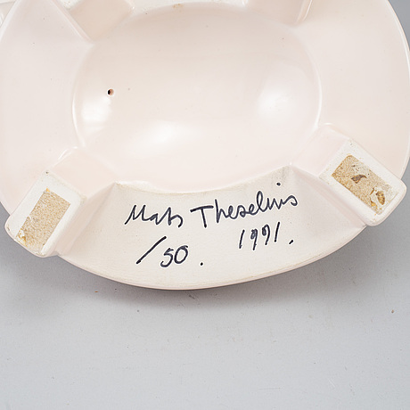 Mats theselius, a porcelain mirror, signed and numbered 50/50, 1991.