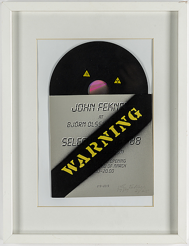 John fekner, multipel, 1989, signed and numbered 21/25..