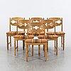 Henning kjaerulf, a set of six chairs.
