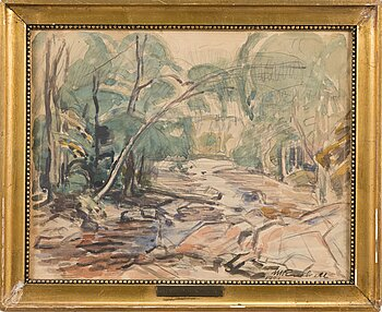 MAGNUS ENCKELL, watercolour and mixed media, signed and dated 1921.