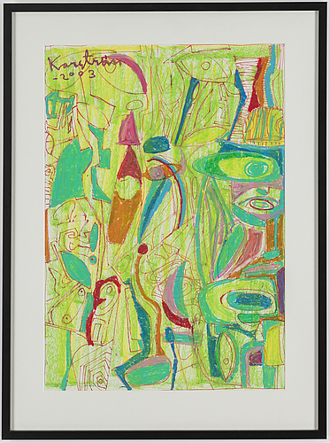 Mauritz karstrÖm, mixed media, signed and dated 2003.