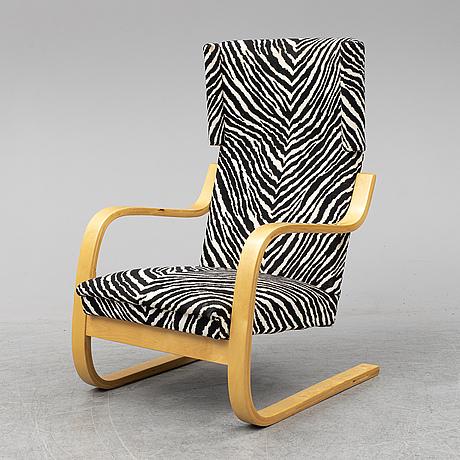 Alvar aalto, a model 401 birch easy chair from artek, finland.