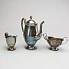Gab, kaffeservis 3 dlr silver stockholm 1927, 1933, stockholm.