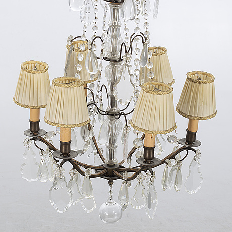 A electric chandelier, 20th century.