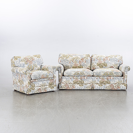 Arne norell, couch and easy chair, second half of the 20th century.