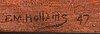 Francis mabel hollams, olja på pannå, signerad och daterad fm hollams -47.