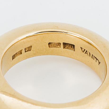 "18k gold and smoky quartz ring, ""vanity"", bengt hallberg, köping."