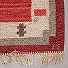 Ingegerd silow, matto, flat weave, ca 181,5-183 x 107,5-109 cm, signerad is.