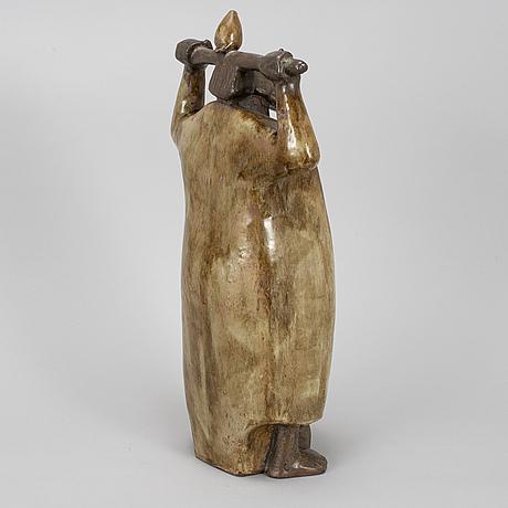Åke holm, a stoneware sculpture, höganäs, sweden 1950's.
