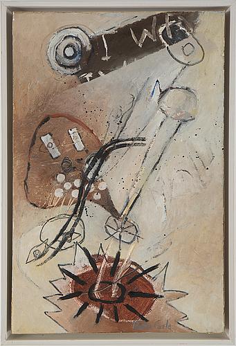 Pontus carle, olja på duk, signerad och daterad -92.