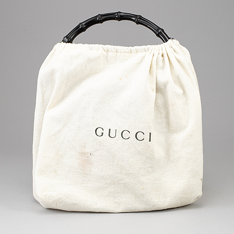 Gucci, 'bamboo leather satchel'.