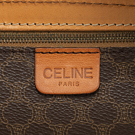 CÉline, a macadam and leather bag.