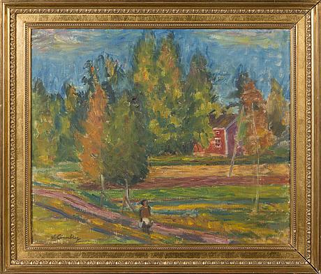 William lÖnnberg, oil on canvas, signed.