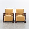 Armchairs, a pair first half of the 20th century.