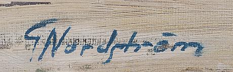 Gunnar nordstrÖm,  oil on canvas, signed.