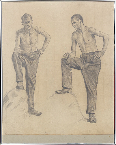GÖsta sandels, 3 drawings, signed, two of them dated 1904 and 1905.