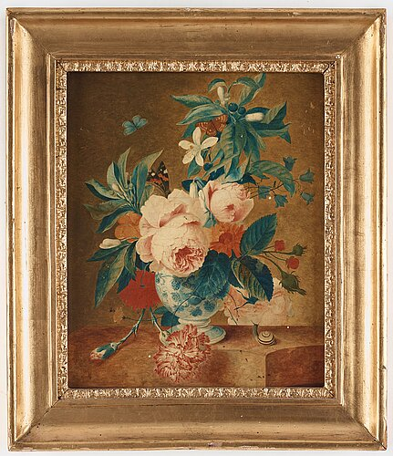Francina margaretha van huysum circle of, still life with flowers, fruits and insects (2).