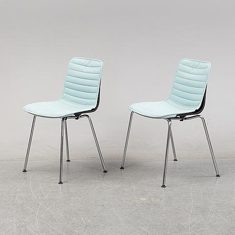 Jasper morrison, a pair of 'hal' chairs, vitra.
