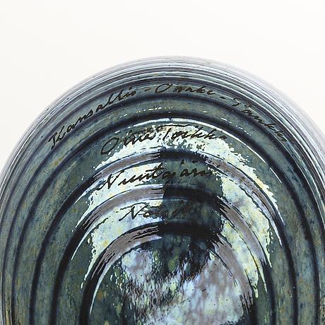 Oiva toikka, glasfåglar 4 st, signerade oiva toikka nuutajärvi.