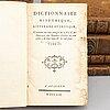 Eight leatherbound books, 18th century.