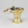 A 16th century bronze holy water bowl.