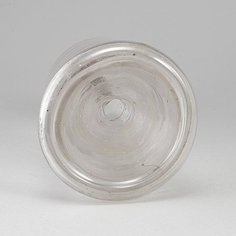 A19th century glass fly catching bottle.