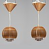"Tom dixon, two ceiling lights, ""fin pendant round copper"". one box included."