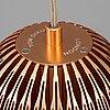 """Tom dixon, taklampor, 2 stycken, """"fin pendant round copper""""."""