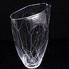 Vicke lindstrand, a glass vase, signed. kosta.