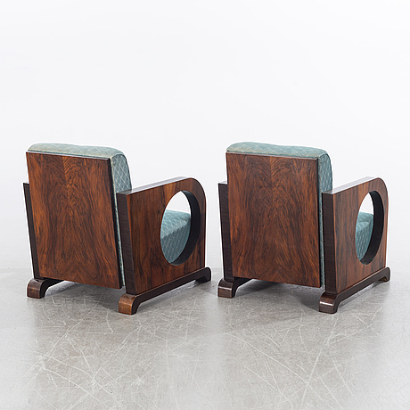 A pair of chairs, second half of the 20th century.
