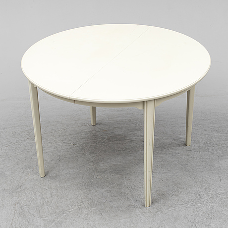 Carl malmsten, dining table and six chairs. two leaves included.