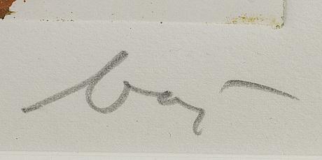Enrico baj, färgetsning, signerad och numrerad ea.