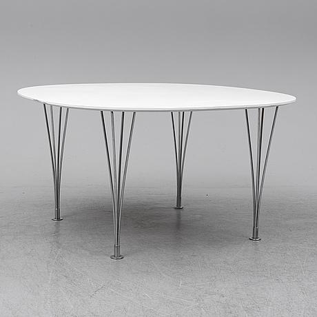 """Bruno mathsson & piet hein, bord, """"supercirkel""""."""