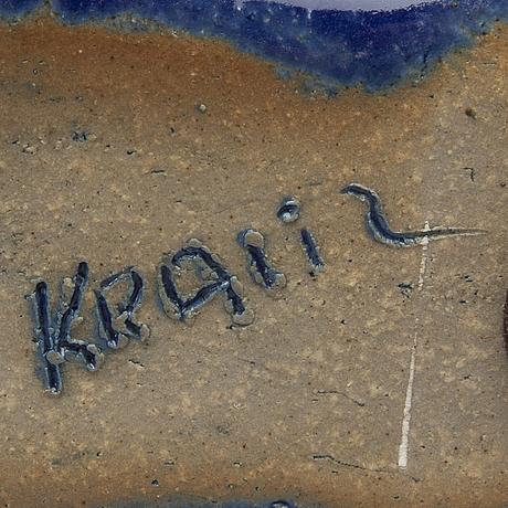 Ulla & gustav kraitz, signed stone ware figurine.