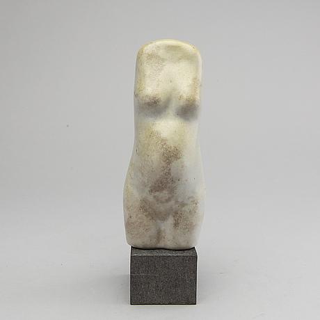 Ulla & gustav kraitz, a signed and numbered stone ware figurine.