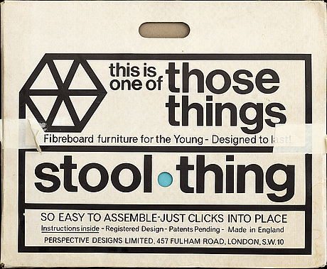Peter murdoch - stool, 'stool thing', 1968, never been put together.