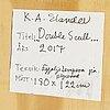 Kristina elander, äggoljetempera på pannå, signerad på etikett a tergo.