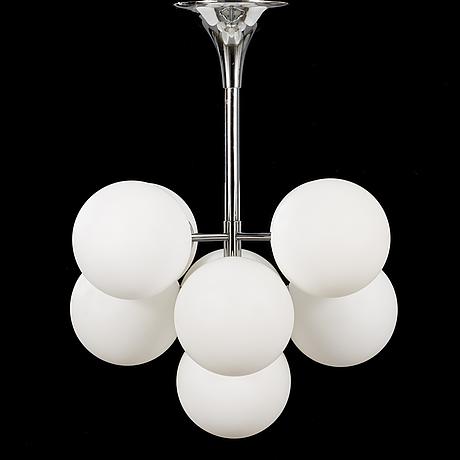 Max bill, a 1960/1970s century 'sputnik' model pendant lamp for temde, switzerland.
