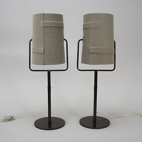 A pair of table lamps, foscarini, model fork tavolo.