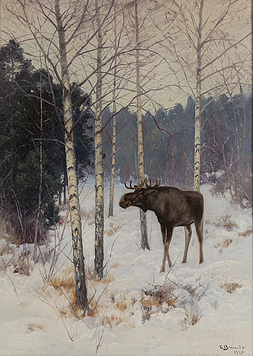 Carl brandt, oil on canvas, signed and dated 1920.