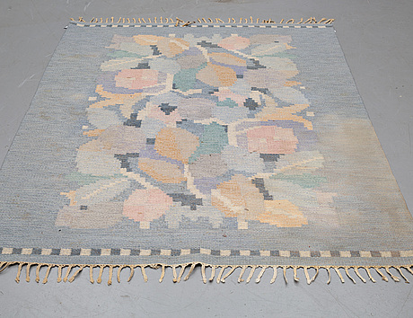 Ingegerd silow, a carpet, flat weave, ca 234,5-235,5 x 166-167,5 cm, signed is.