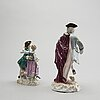 Two porcelain figurines, meissen, germany, 20th century first part4.