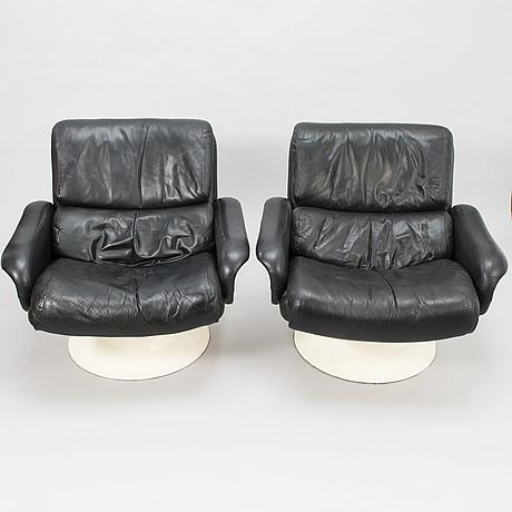 """YrjÖ kukkapuro, nojatuolipari, """"saturnus"""" haimi 1970-luku."""
